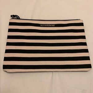Striped Victoria Secret Pouch